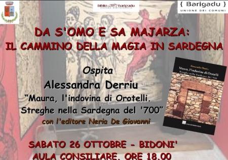 Presentazione del libro Maura l'indovina di Orotelli. Streghe nella Sardegna del '700 di Alessandra Derriu